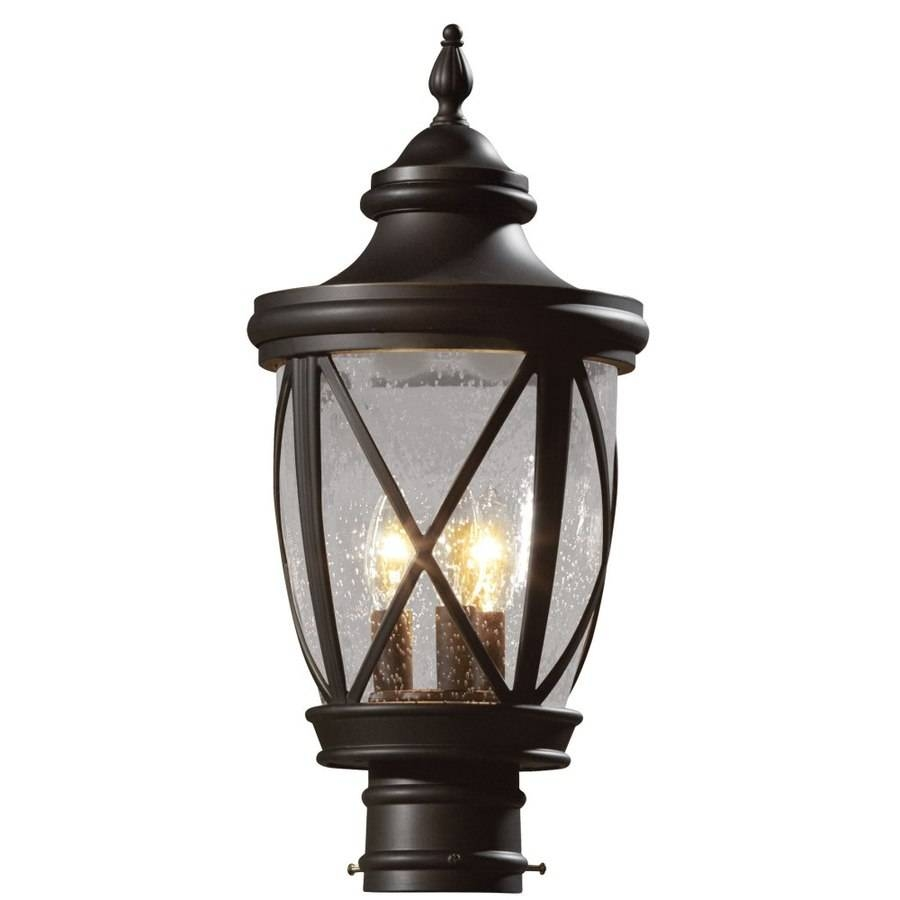 Shop Allen + Roth Castine 19.5-In H Rubbed Bronze Post Light At in Allen And Roth Lights (Image 9 of 15)