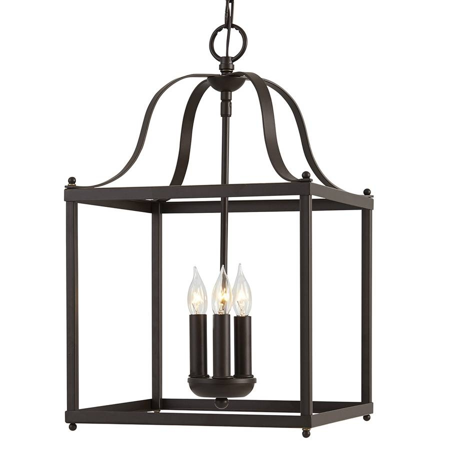 Shop Allen + Roth Collinwick 12.05-In Specialty Bronze Country inside Allen Roth Pendant Lights (Image 8 of 15)
