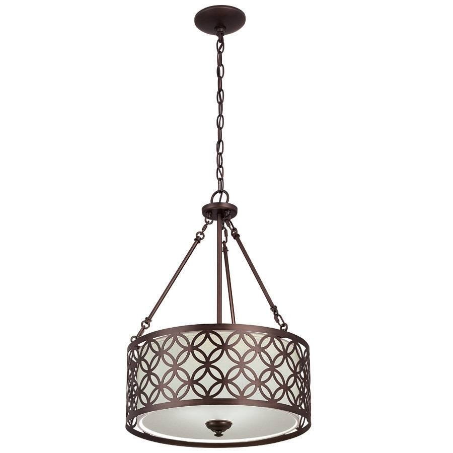 15 collection of allen roth pendant lights shop allen roth earling 18 in oil rubbed bronze hardwired single pertaining to allen aloadofball Gallery