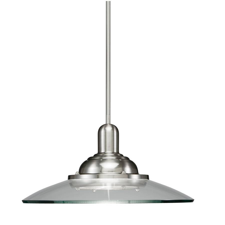 Shop Allen + Roth Galileo 18.5-In Brushed Nickel Mini Clear Glass pertaining to Allen Roth Pendants (Image 9 of 15)