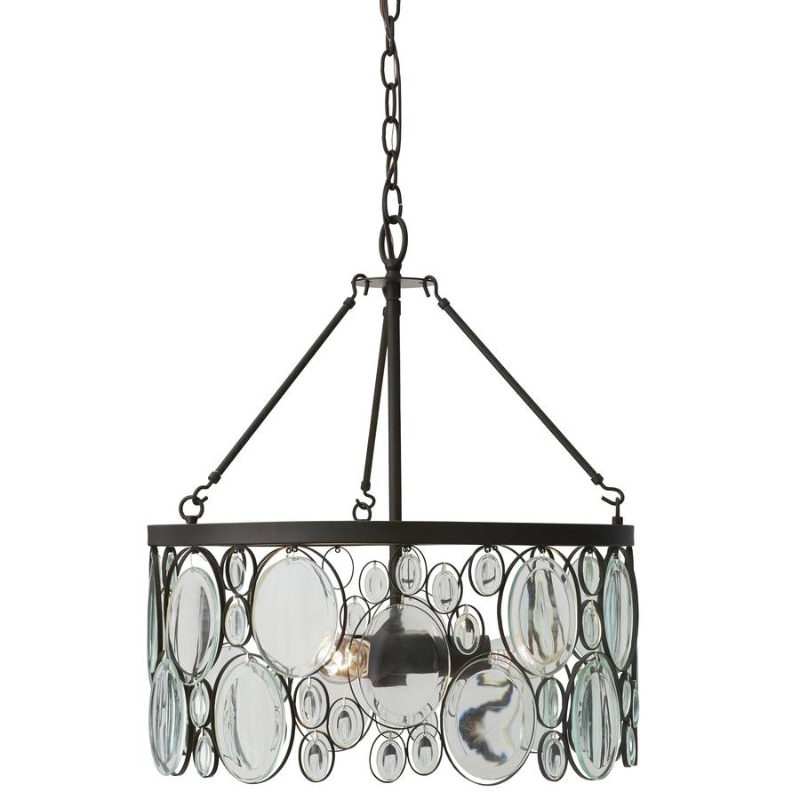 Shop Allen + Roth Grelyn 17.99-In Aged Bronze Single Clear Glass pertaining to Allen Roth Lights Fixtures (Image 7 of 15)