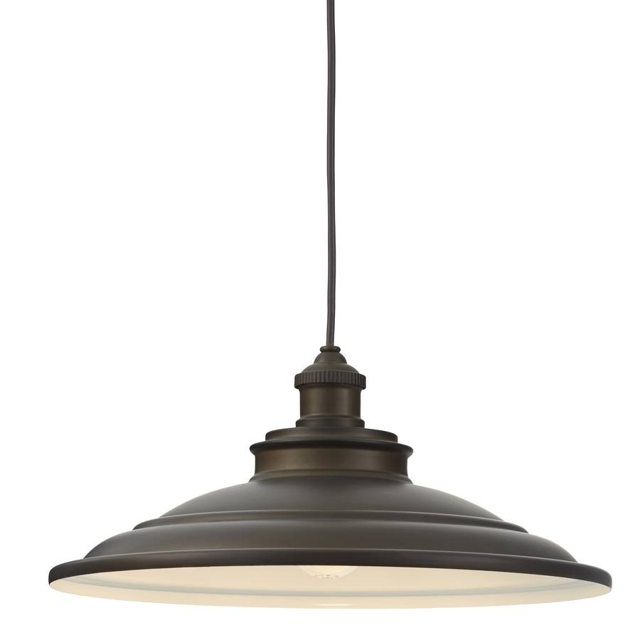 Shop Allen + Roth Hainsbrook 15.98-In Aged Bronze Barn Single Dome inside Allen and Roth Pendants (Image 11 of 15)