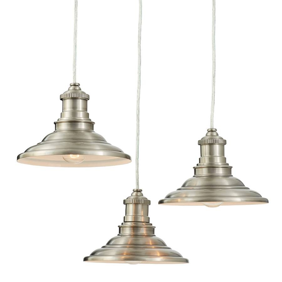 Shop Allen + Roth Hainsbrook 18.3-In Antique Pewter Rustic Multi in Allen Roth Pendants (Image 11 of 15)