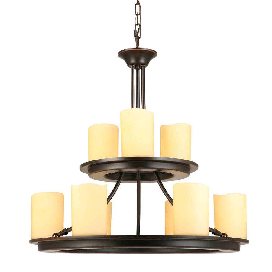 Shop Allen + Roth Harpwell 25-In 9-Light Oil-Rubbed Bronze regarding Allen Roth Lights (Image 9 of 15)