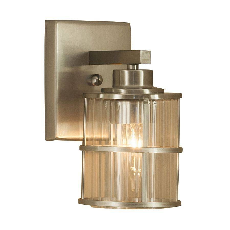 Shop Allen + Roth Kenross 1-Light 8.27-In Brushed Nickel Cage in Allen Roth Lights Fixtures (Image 9 of 15)