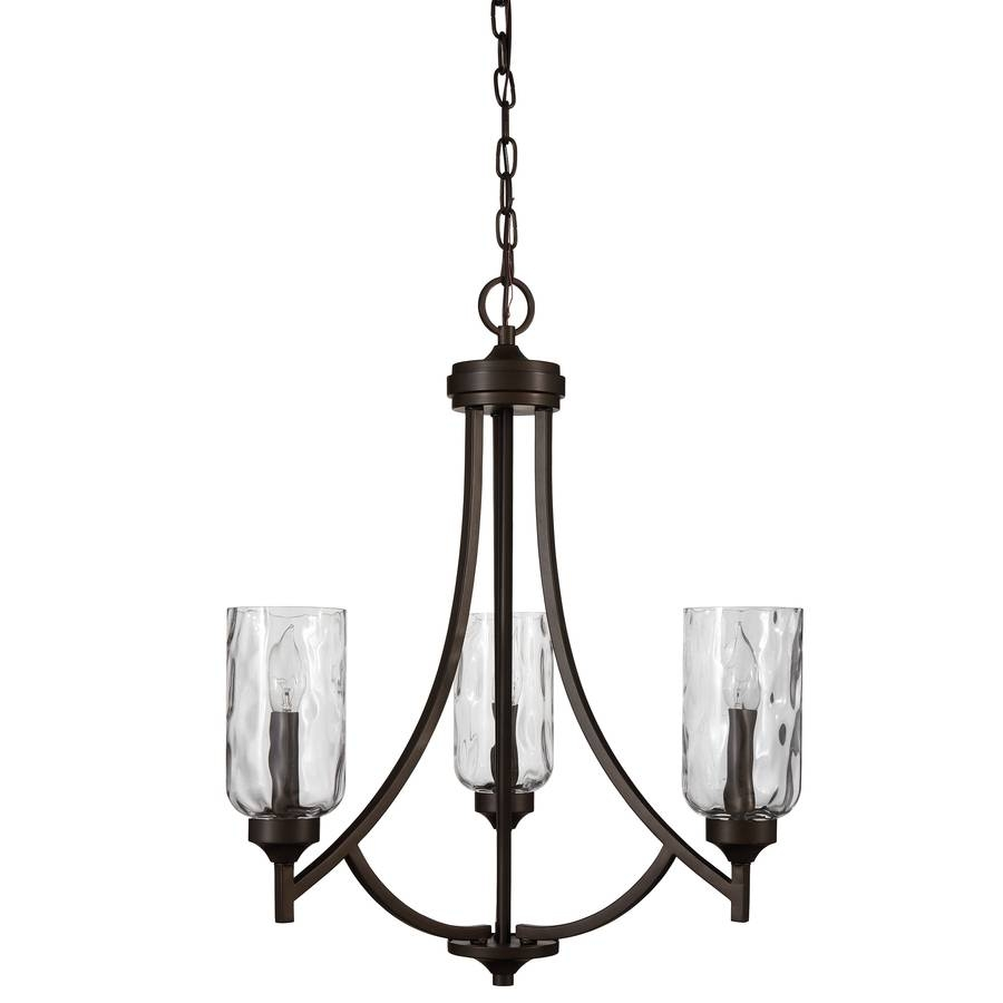 Shop Allen + Roth Latchbury 21.94-In 3-Light Aged Bronze Craftsman in Allen and Roth Lights (Image 10 of 15)