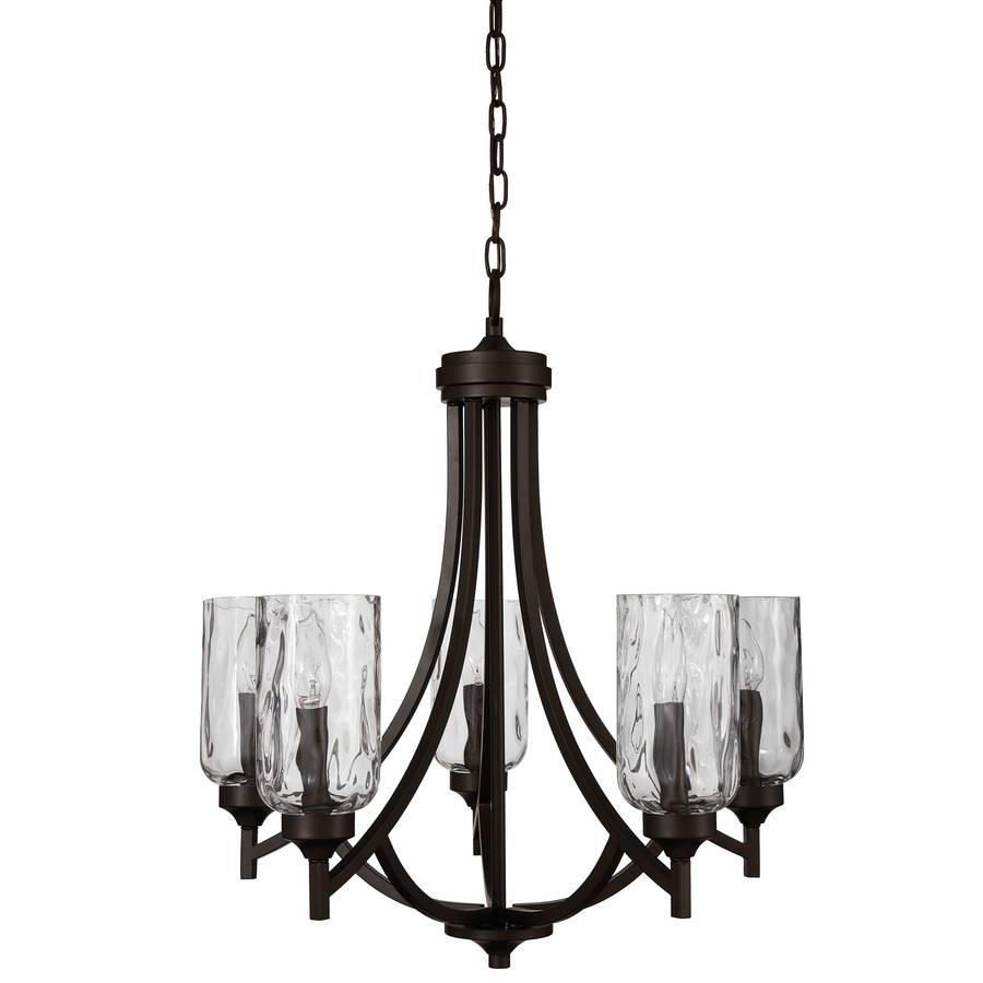 Shop Allen + Roth Latchbury 23.73-In 5-Light Aged Bronze Craftsman for Allen And Roth Lights (Image 11 of 15)