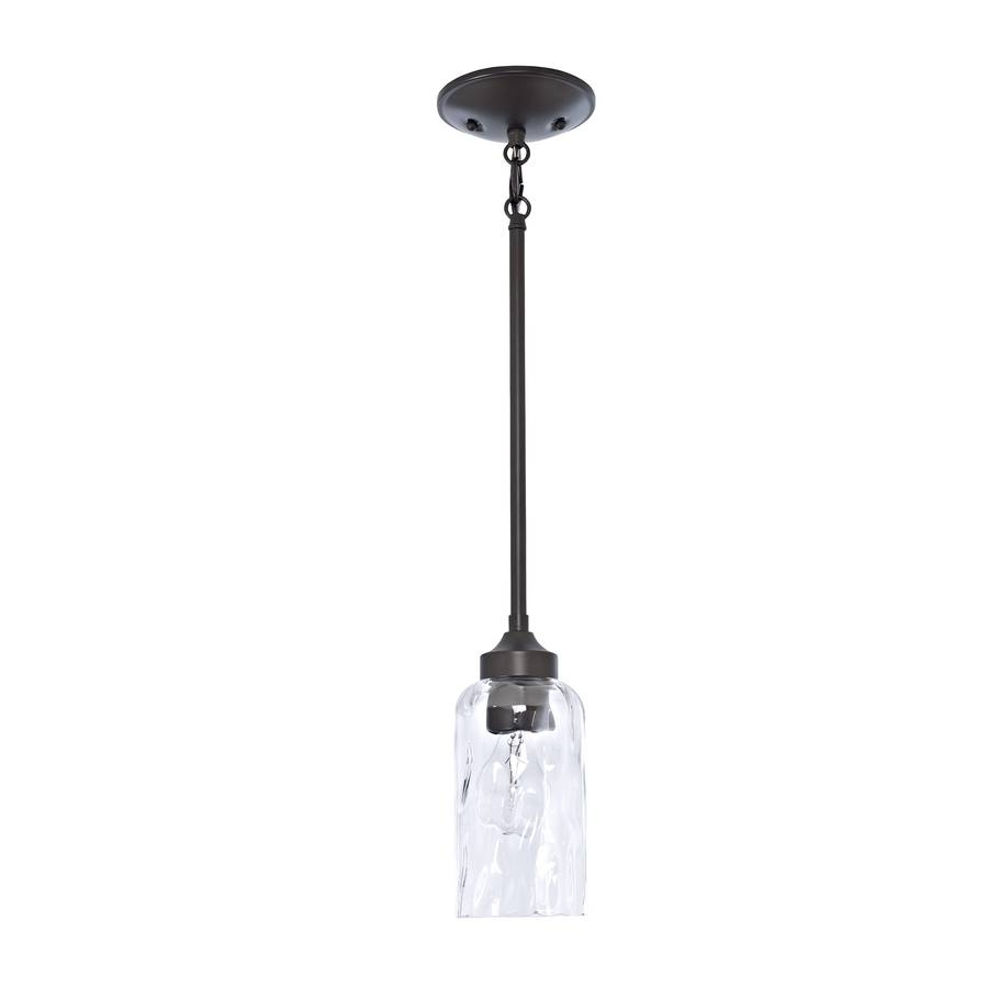 Shop Allen + Roth Latchbury 3.94-In Aged Bronze Country Cottage pertaining to Allen And Roth Pendant Lighting (Image 9 of 15)