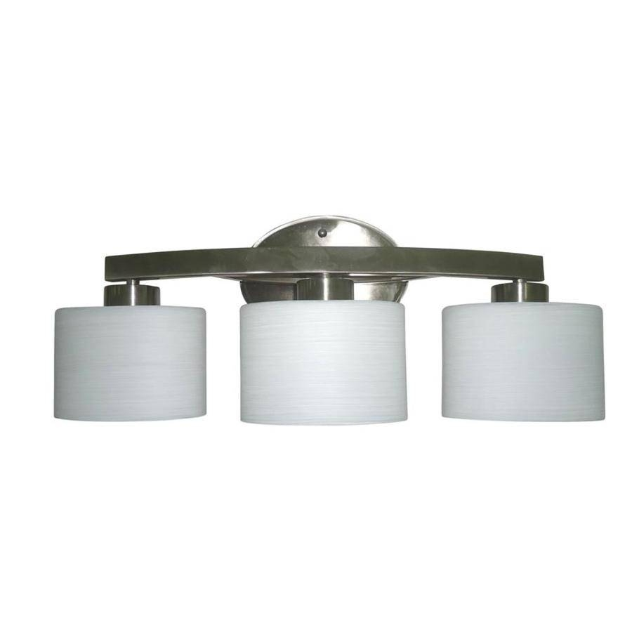 Shop Allen + Roth Merington 3-Light 9-In Brushed Nickel Vanity with Allen And Roth Lights (Image 12 of 15)