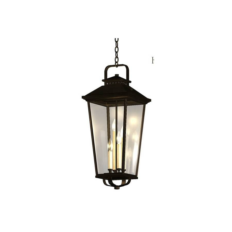 Shop Allen + Roth Parsons Field 27-In Black Outdoor Pendant Light throughout Allen Roth Pendant Lights (Image 10 of 15)