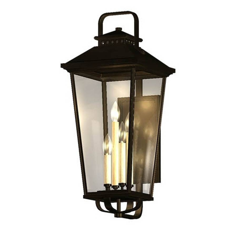 Shop Allen + Roth Parsons Field 27-In H Black Outdoor Wall Light for Allen Roth Lights Fixtures (Image 10 of 15)