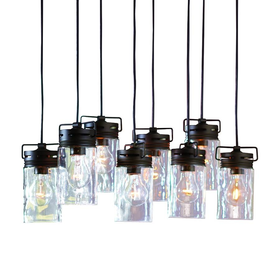 Shop Allen + Roth Vallymede 25.47-In Aged Bronze Barn Multi-Light pertaining to Allen Roth Pendants (Image 12 of 15)