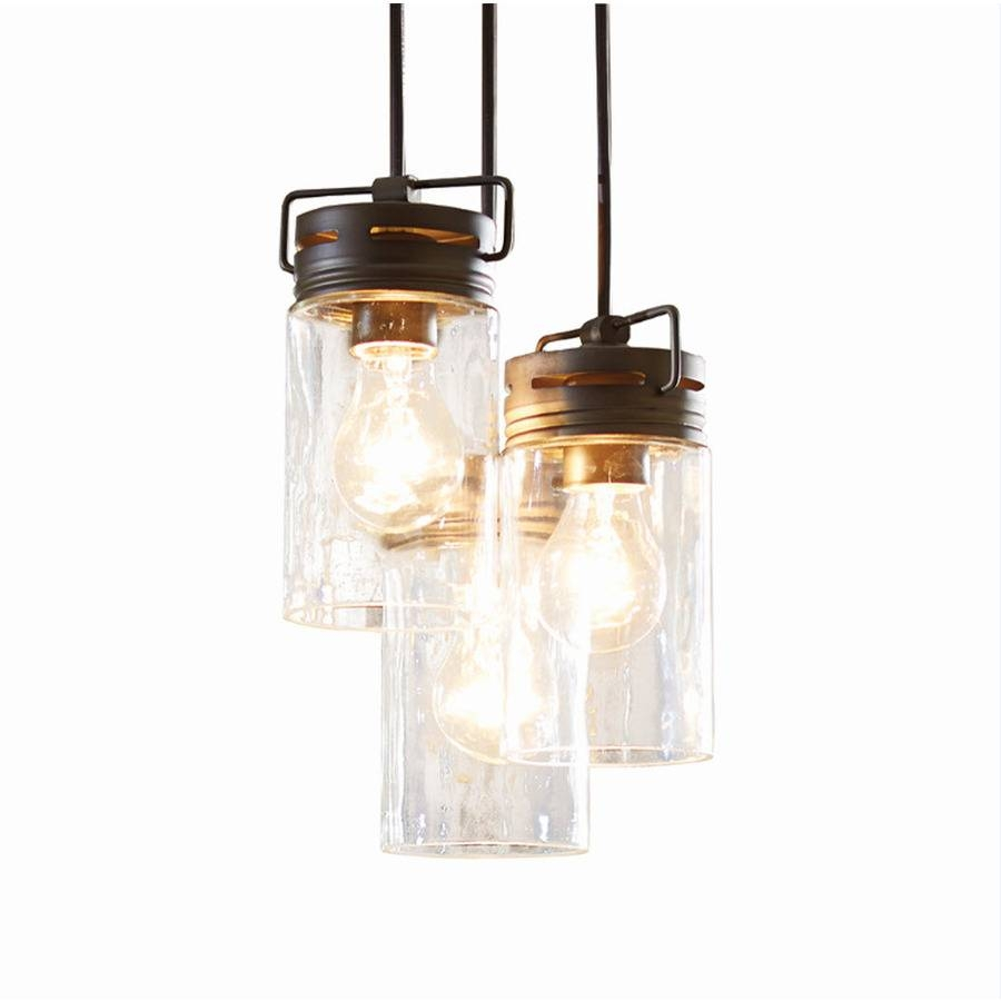 Shop Allen + Roth Vallymede 9.84-In Aged Bronze Barn Multi-Light regarding Allen And Roth Lights (Image 15 of 15)