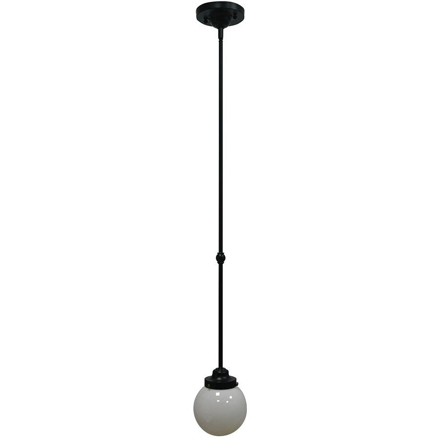 Shop Allen + Roth Webner 6-In Bronze Mini Globe Pendant At Lowes for Allen Roth Pendants (Image 15 of 15)