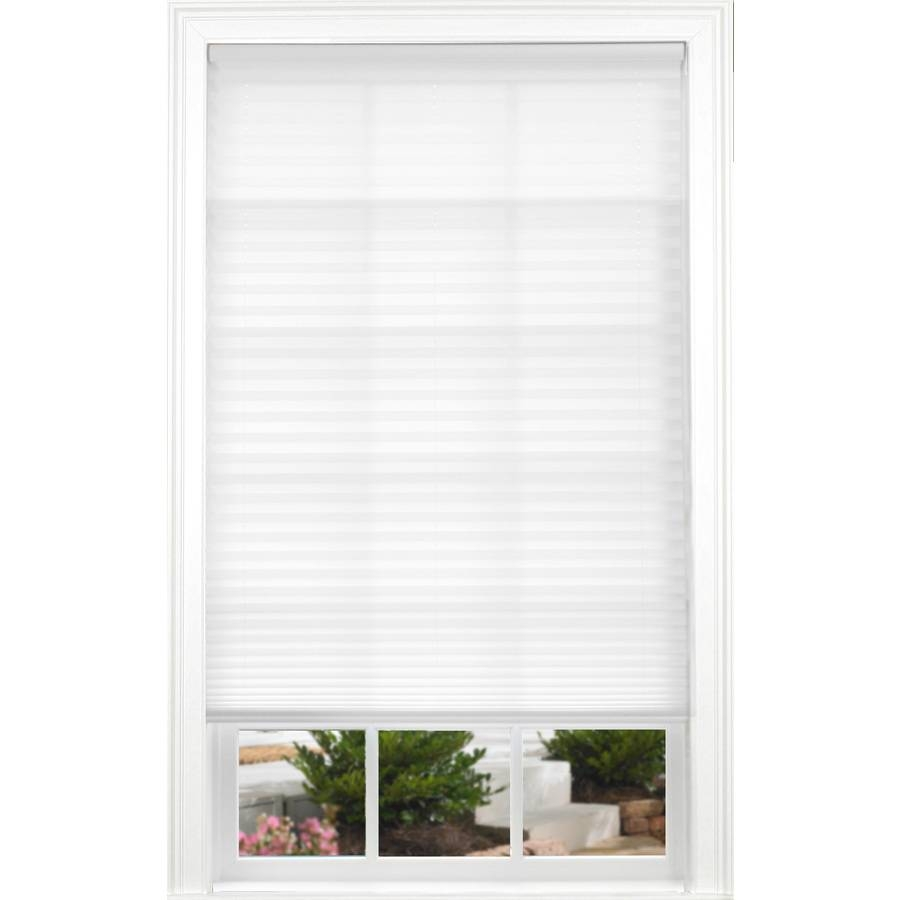 Shop Allen + Roth White Light Filtering Cordless Polyester Pleated intended for Allen And Roth Shades (Image 13 of 15)