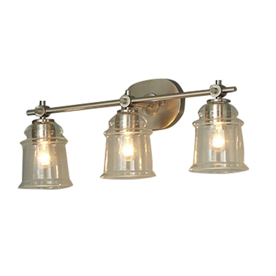 Shop Allen + Roth Winsbrell 3-Light 9.24-In Brushed Nickel Bell regarding Allen Roth Lights (Image 13 of 15)