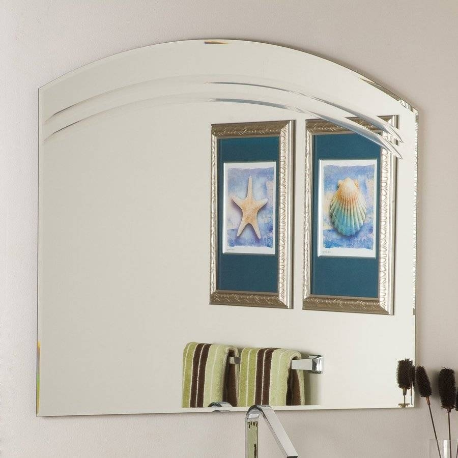 Shop Decor Wonderland Angel 39.5-In X 31.5-In Arch Frameless regarding Arched Bathroom Mirrors (Image 15 of 15)