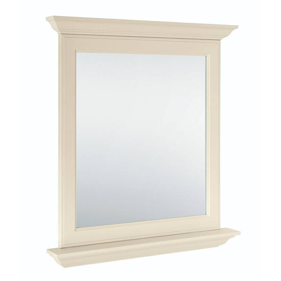 Shop Diamond Freshfit Britwell 30-In X 34-In Cream Rectangular for Cream Mirrors (Image 13 of 15)