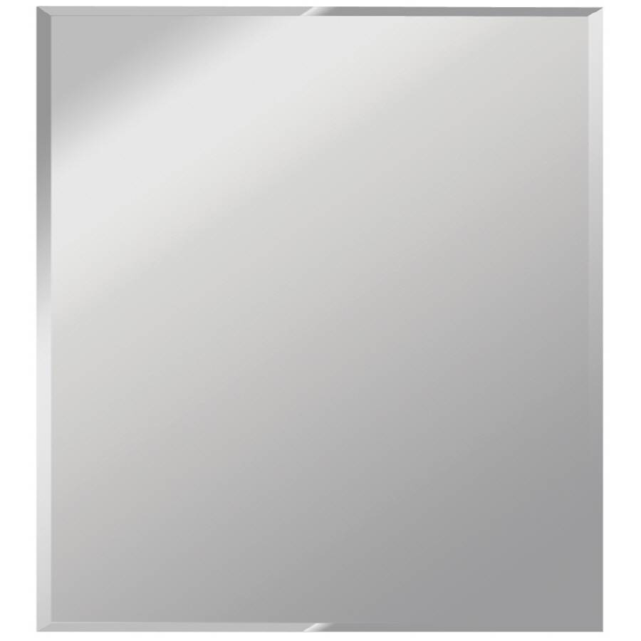Shop Dreamwalls Silver Beveled Square Frameless Wall Mirror At With Square Frameless Mirrors (View 8 of 15)