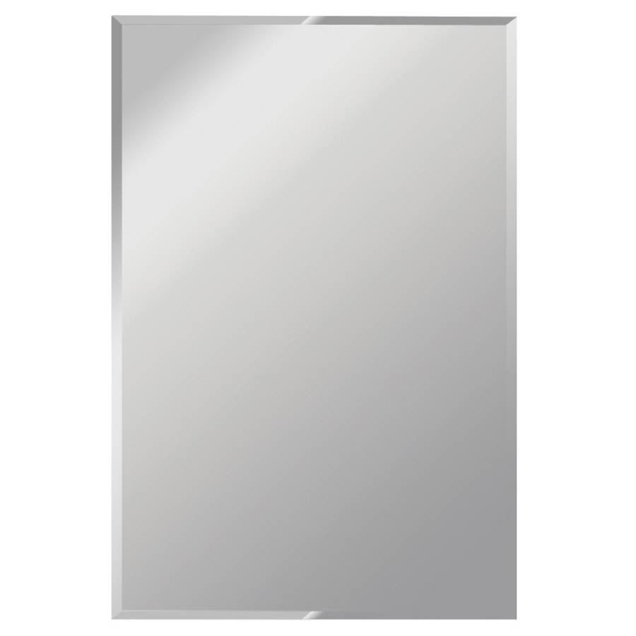 Shop Gardner Glass Products Silver Beveled Frameless Wall Mirror For Bevelled Glass Mirrors (View 12 of 15)