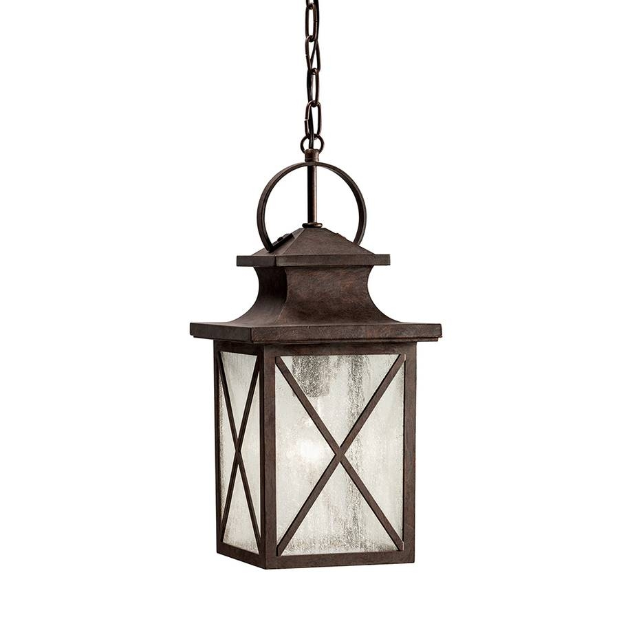 Shop Kichler Lighting Haven 17.17-In Olde Brick Outdoor Pendant in Lowes Outdoor Hanging Lights (Image 5 of 15)