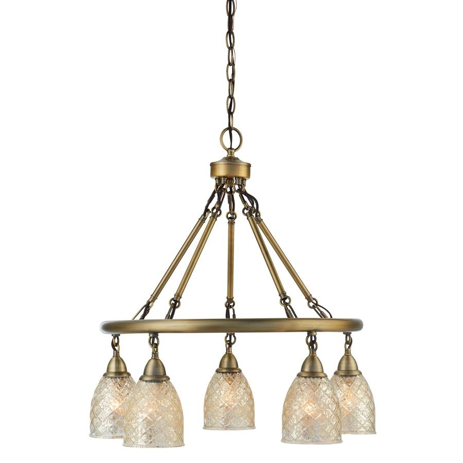 Shop Lynlore Lighting From Allen + Roth® Lighting throughout Mercury Glass Lights Fixtures (Image 14 of 15)