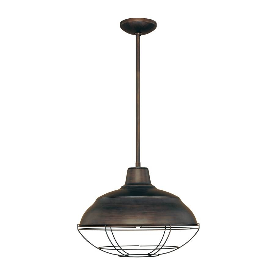 Shop Millennium Lighting Neo Industrial 17-In Rubbed Bronze with Warehouse Pendant Light Fixtures (Image 10 of 15)