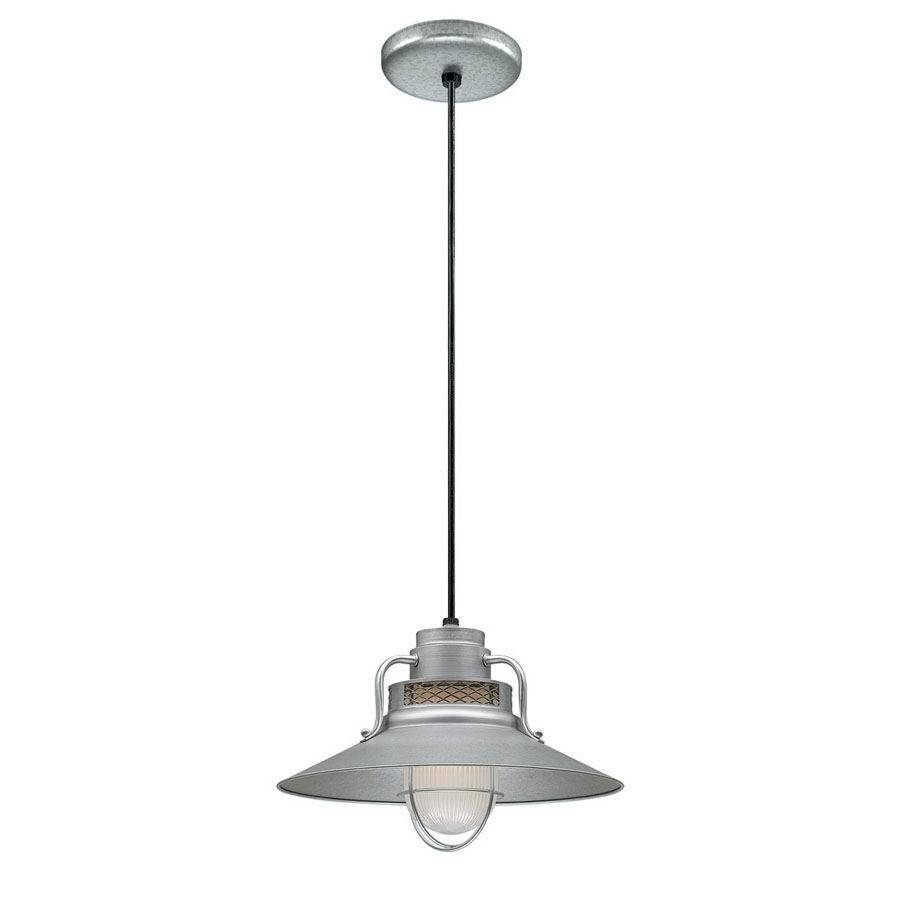 Shop Millennium Lighting R Series 14 In Galvanized Barn Mini Throughout Galvanized Pendant Barn Lights (View 2 of 15)