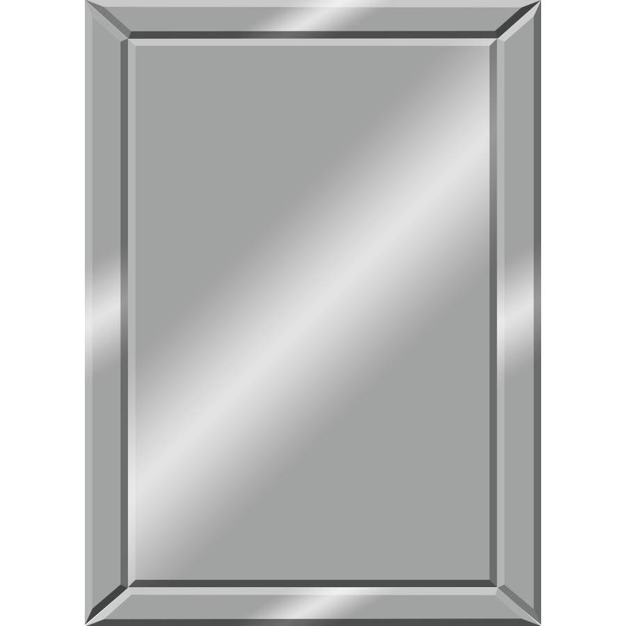Shop Mirrors & Mirror Accessories At Lowes for Frameless Wall Mirrors (Image 11 of 15)