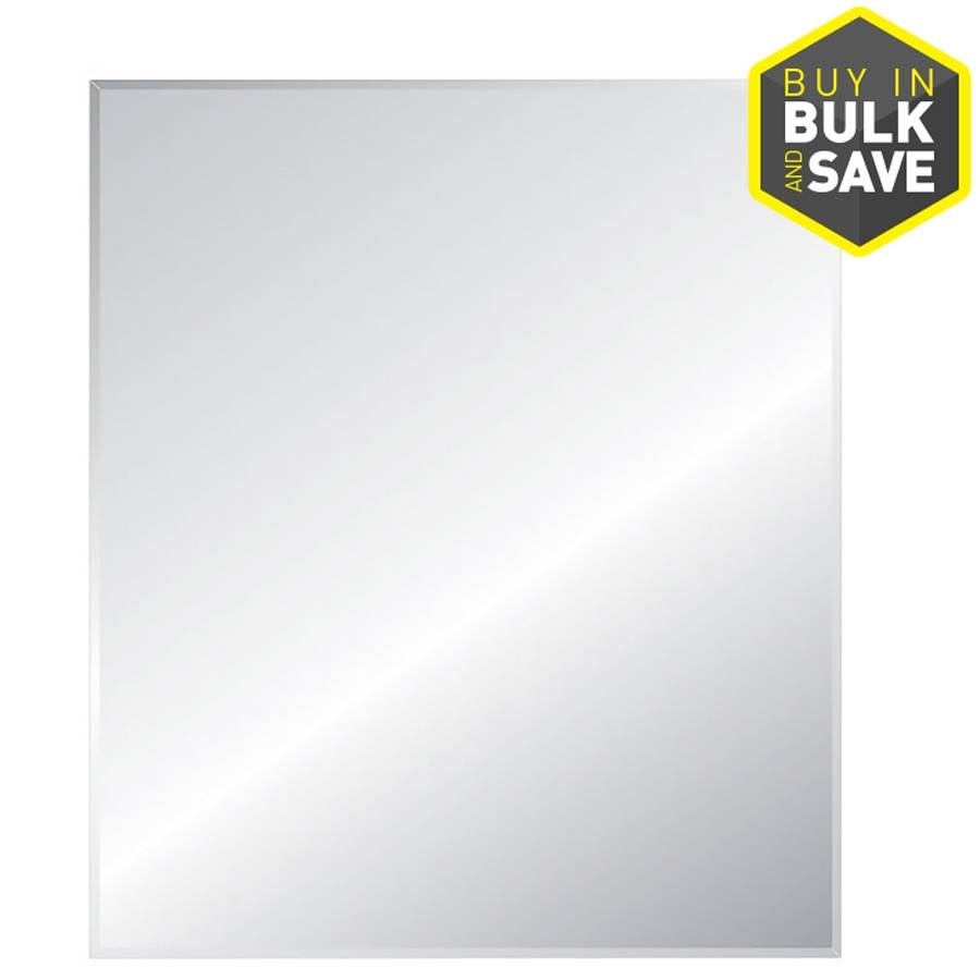 Shop Mirrors & Mirror Accessories At Lowes Intended For Square Frameless Mirrors (View 9 of 15)