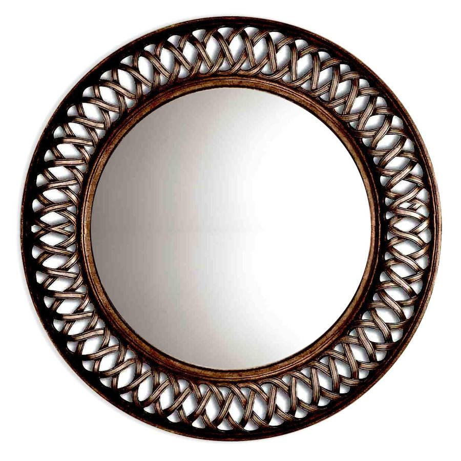Shop Oil-Rubbed Bronze Round Framed Wall Mirror At Lowes with Large Bronze Mirrors (Image 13 of 15)