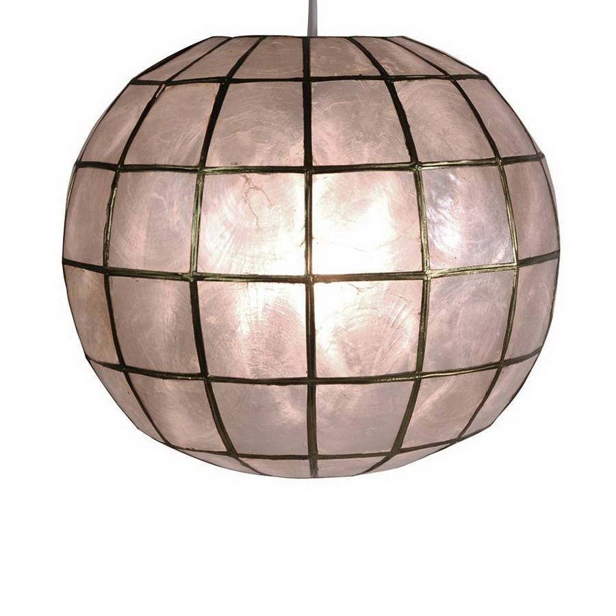 Shop Oriental Furniture Princess Capiz 11-In W Capiz Hardwired in Shell Lights Shades Pendants (Image 13 of 15)