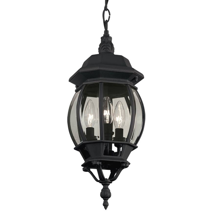 Shop Portfolio 20.67-In Black Outdoor Pendant Light At Lowes with regard to Lowes Outdoor Hanging Lights (Image 10 of 15)