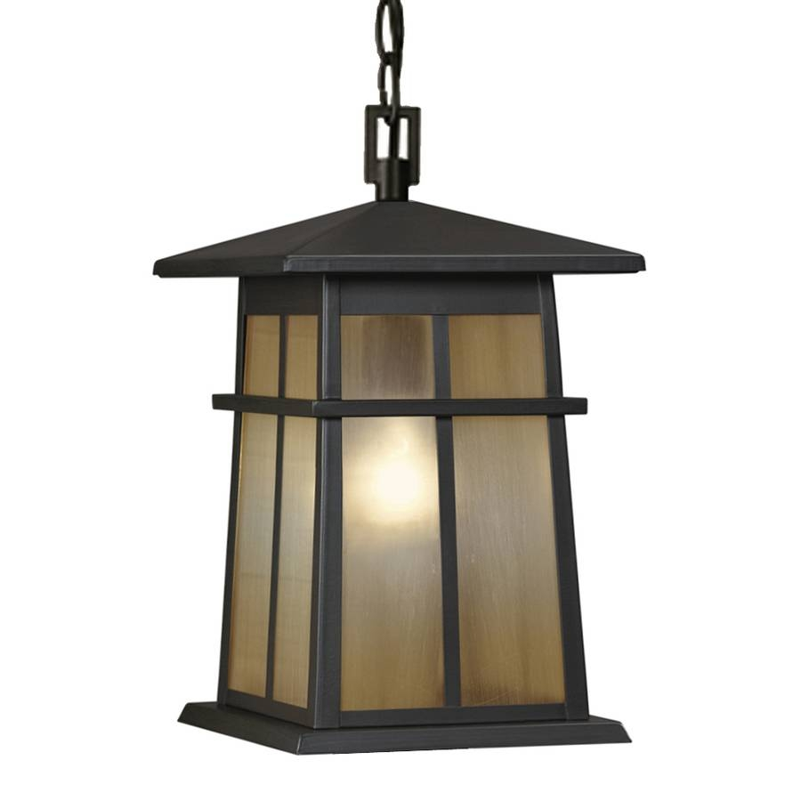 Shop Portfolio Amberset 14.25-In Specialty Bronze Outdoor Pendant throughout Lowes Outdoor Hanging Lights (Image 11 of 15)