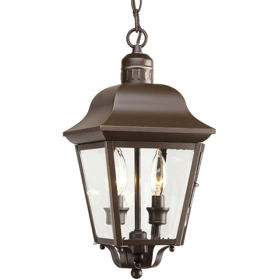 Shop Progress Lighting Andover 15.87-In Antique Bronze Outdoor pertaining to Lowes Outdoor Hanging Lights (Image 12 of 15)