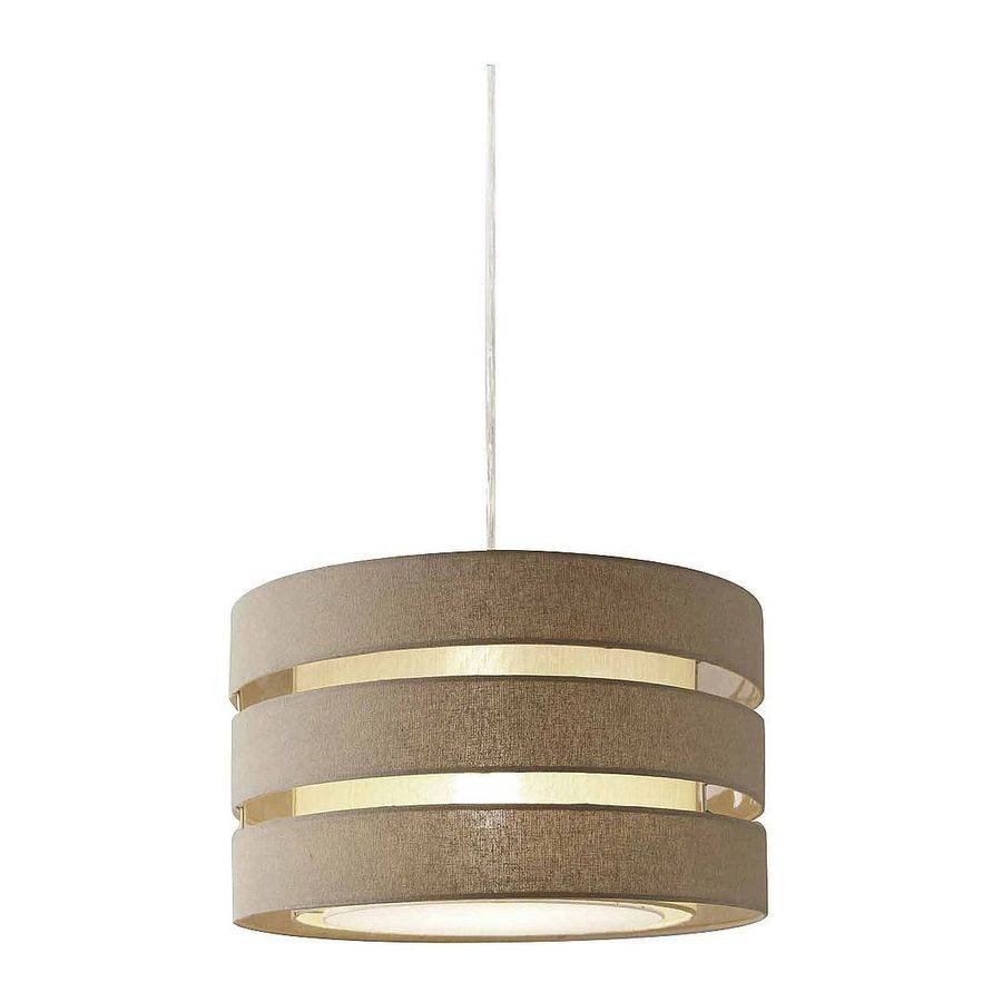 Shop Style Selections 16.8-In Khaki Linen Single Drum Pendant At for Cheap Drum Pendant Lighting (Image 13 of 15)