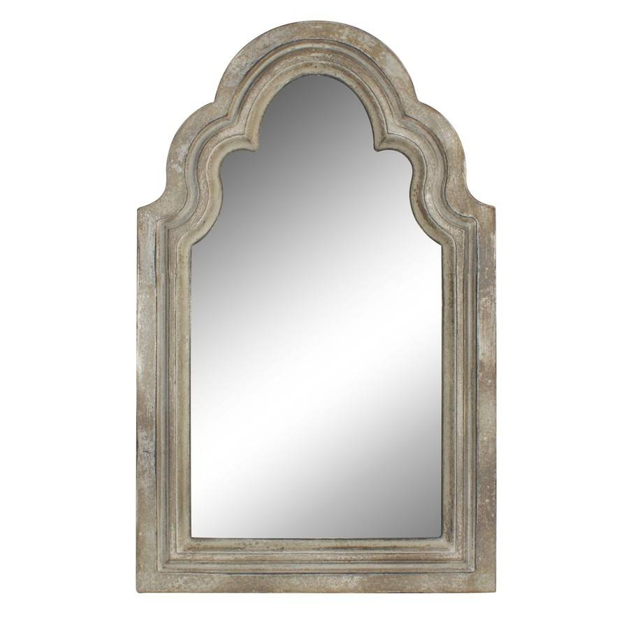 Shop Style Selections Off White Arch Framed Wall Mirror At Lowes For White Arch Mirrors (View 8 of 15)