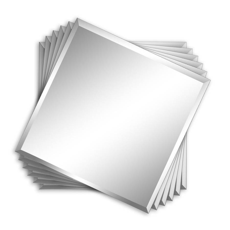 Shop Style Selections Silver Beveled Square Frameless Wall Mirror For Square Frameless Mirrors (View 12 of 15)