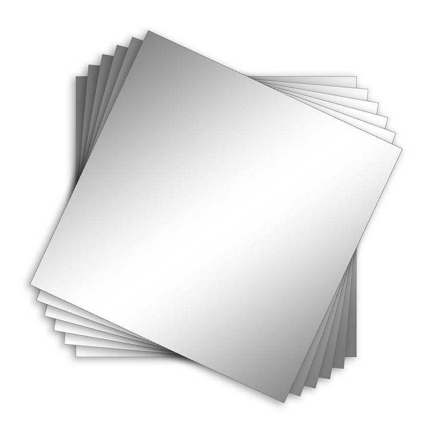 Shop Style Selections Silver Polished Square Frameless Wall Mirror For Square Frameless Mirrors (View 13 of 15)