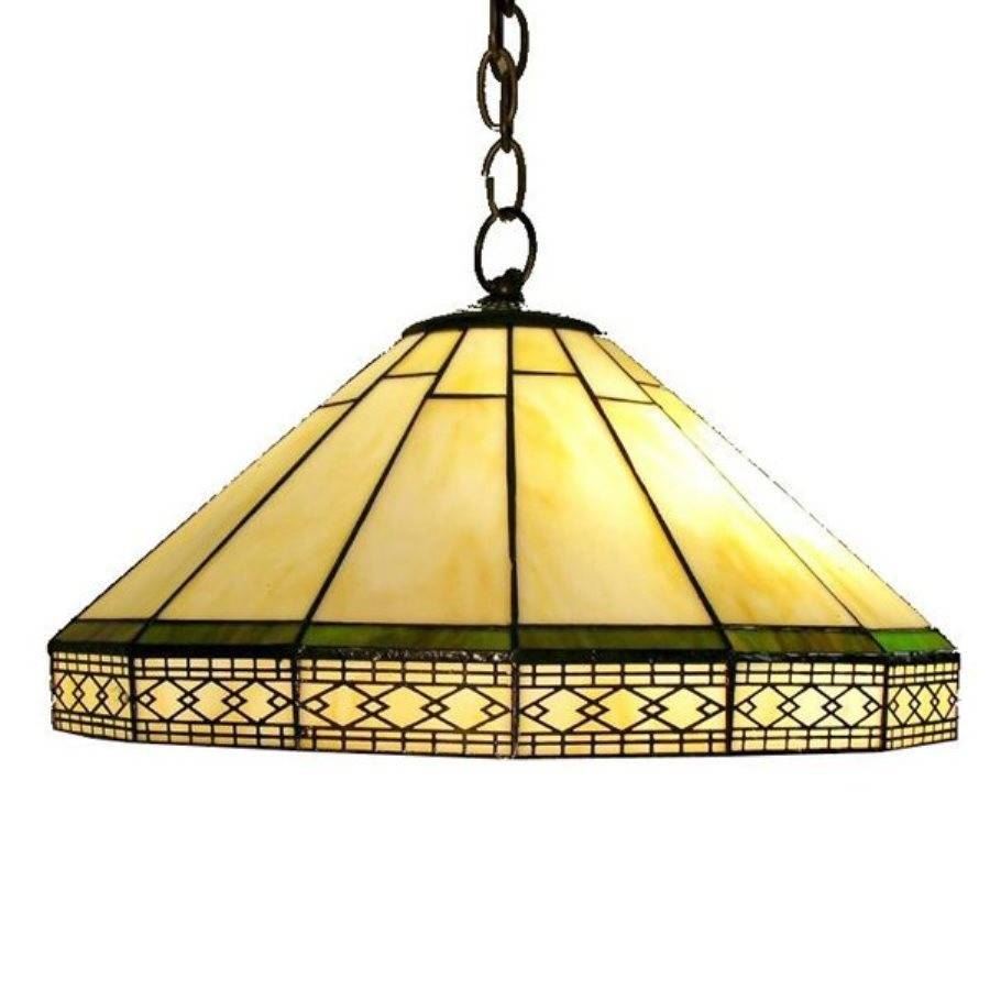 Shop Warehouse Of Tiffany Roman 16-In Dark White Tiffany-Style intended for Stained Glass Lamps Pendant Lights (Image 6 of 15)