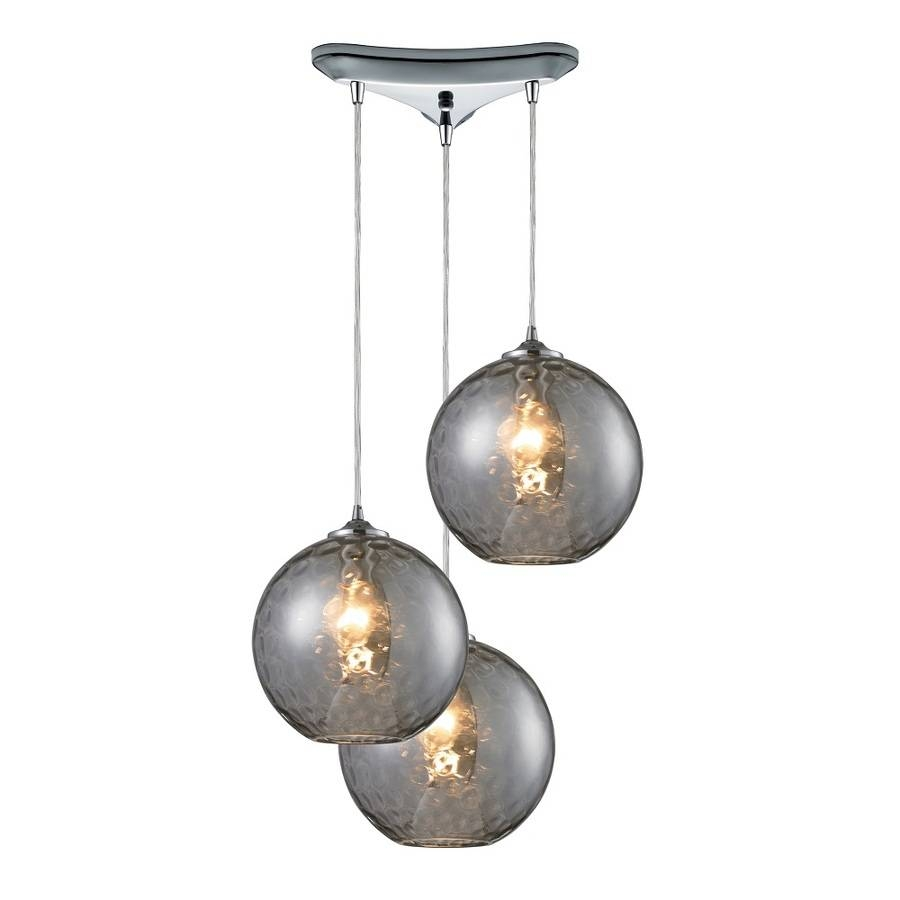 Shop Westmore Lighting Lochmere 10-In Polished Chrome And Smoke with regard to Mercury Glass Globes Pendant Lights (Image 15 of 15)