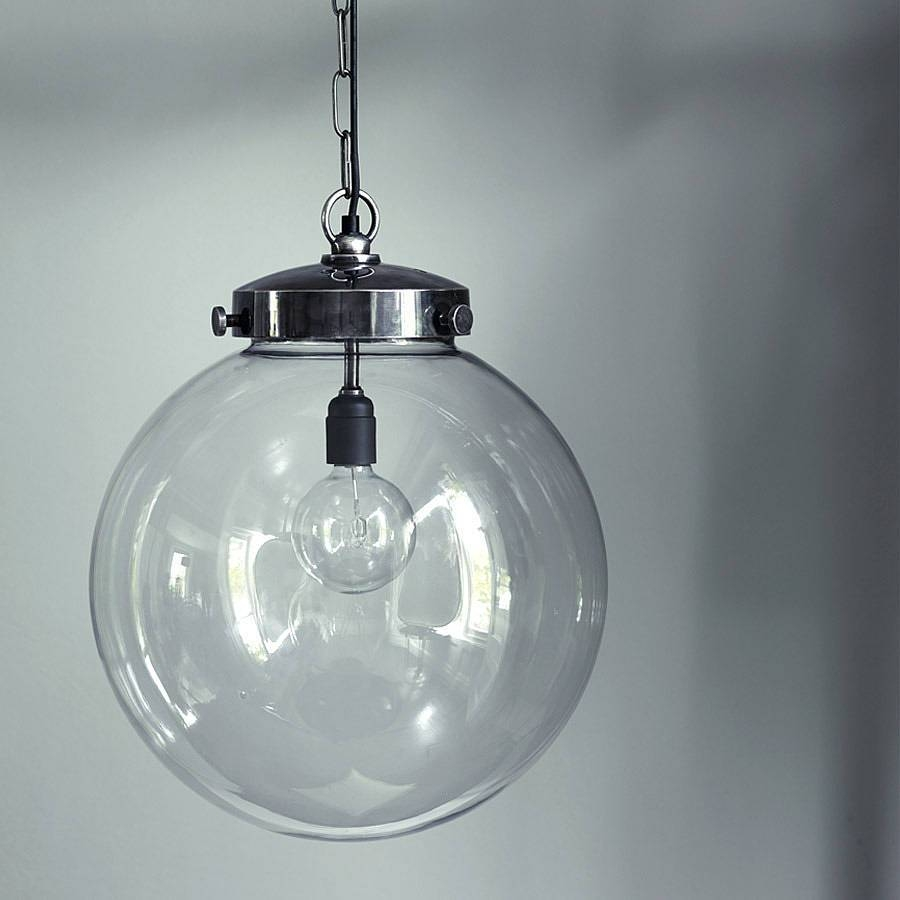 Short Hairstyles: Simple Globe Light Pendant Pendant Light Globe in Short Pendant Lights Fixtures (Image 14 of 15)