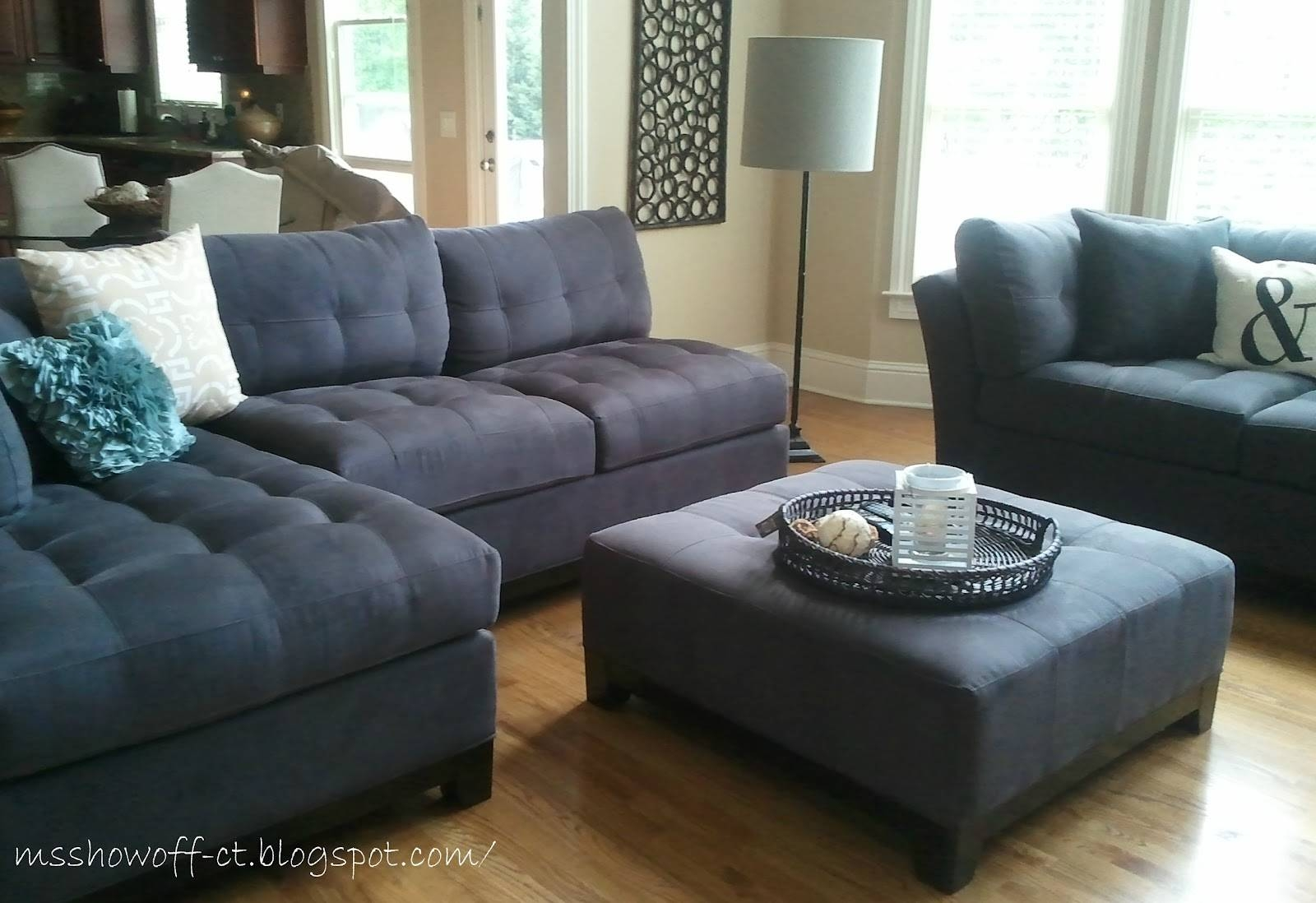 Show Off: Living Room Updates {The Room Wth 15 Windows!} Regarding Cindy Crawford Metropolis Sofas (View 12 of 15)