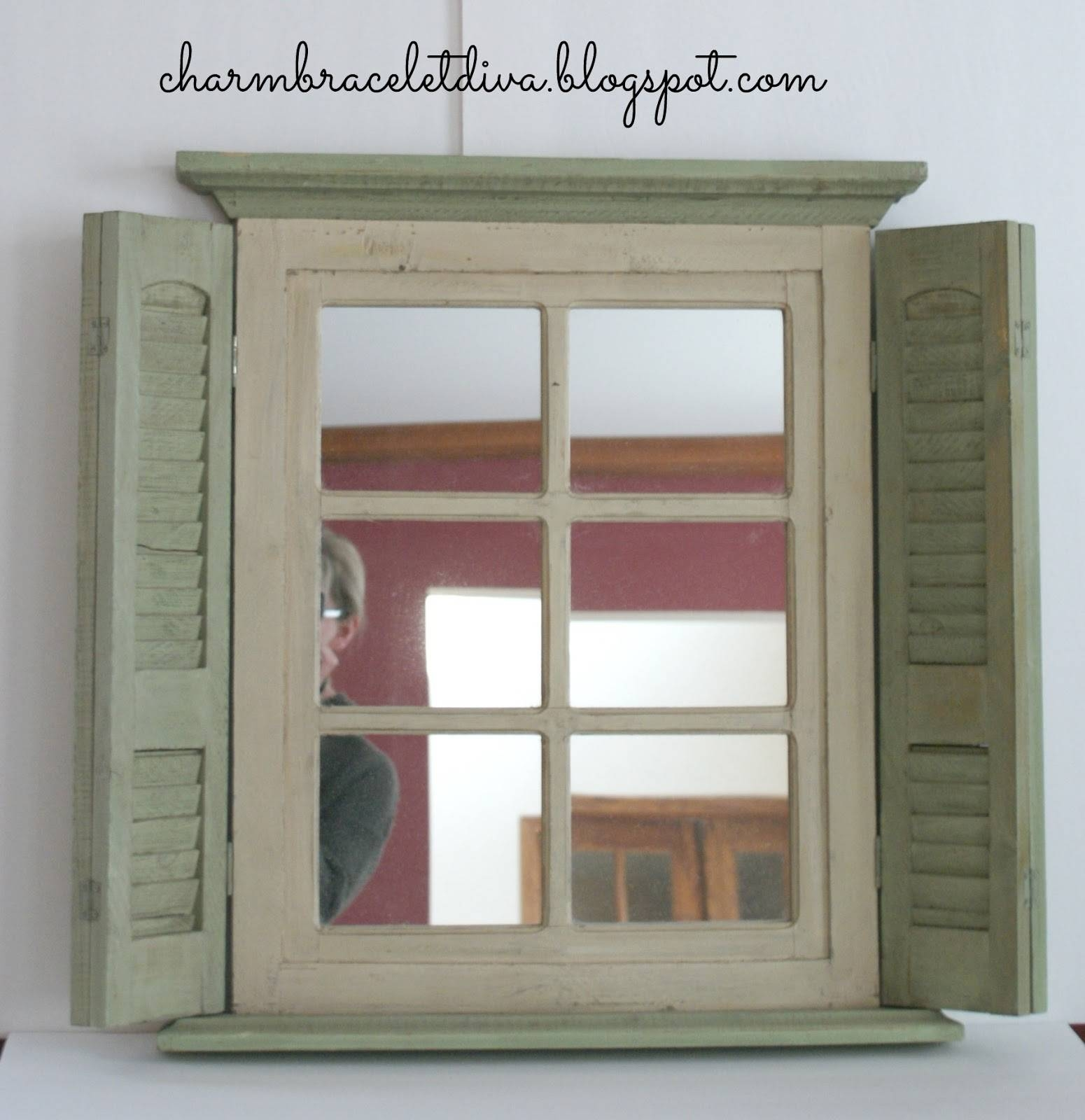 Shuttered Cabinet Makeover - Knick Of Time throughout Window Shutter Mirrors (Image 10 of 15)