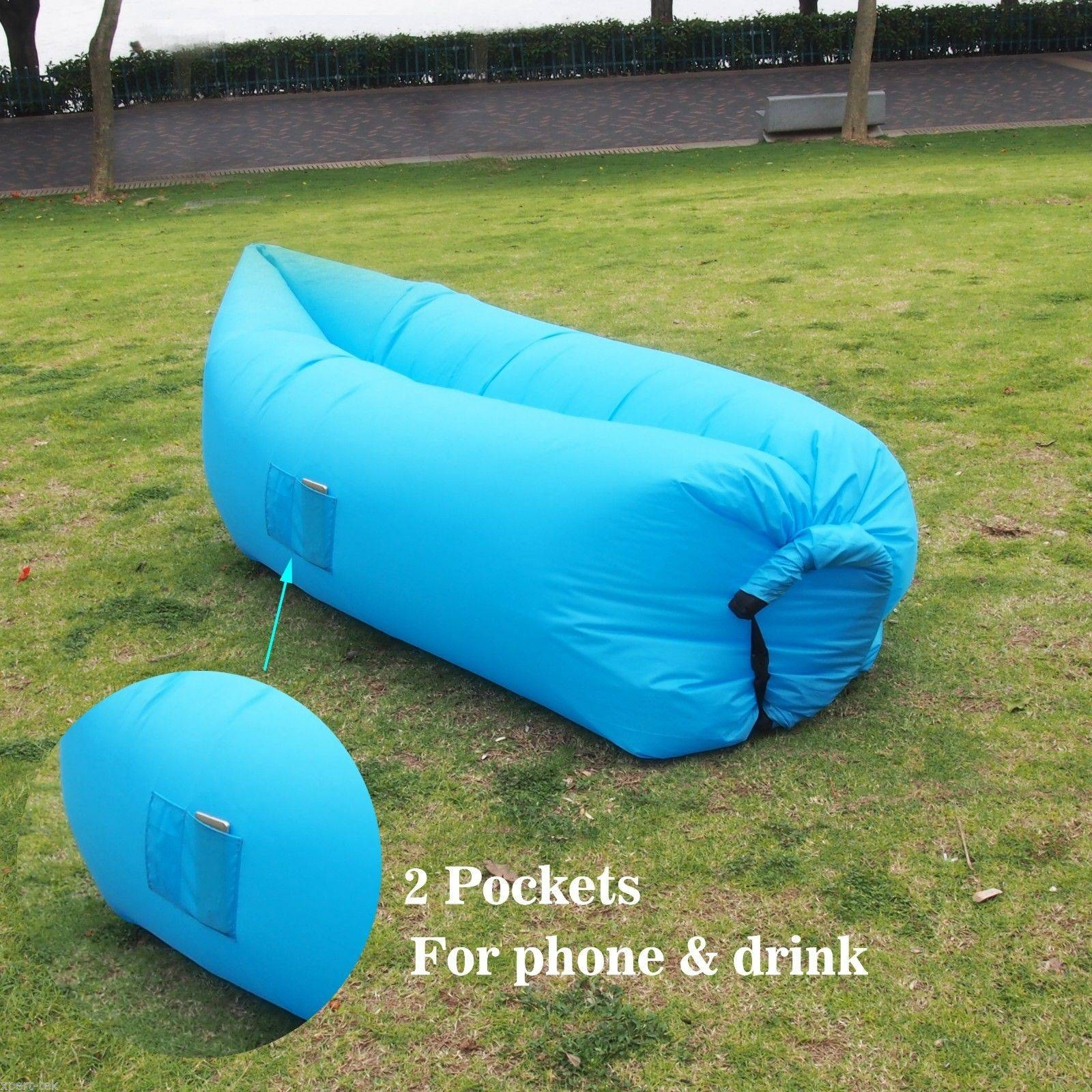 Siesta Inflatable Hangout Air Camping Hiking Sleeping Sofa Bed Inside Sleeping Bag Sofas (View 8 of 15)