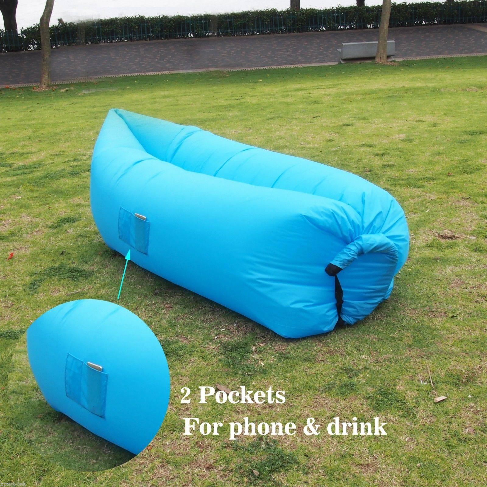 Siesta Inflatable Hangout Air Camping Hiking Sleeping Sofa Bed inside Sleeping Bag Sofas (Image 8 of 15)