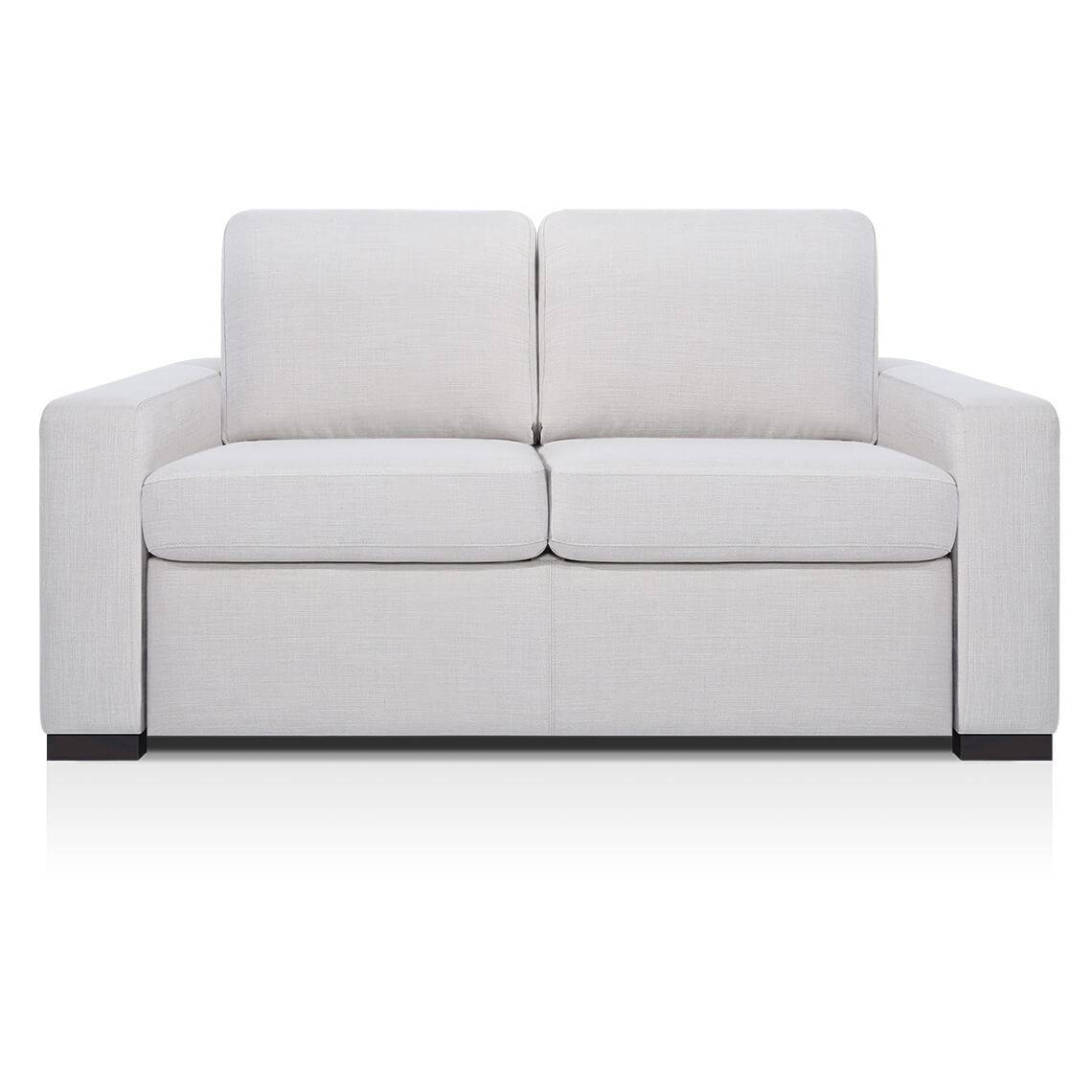 Signature Contemporary Arm 2 Seat Sofabed | Freedom Furniture And intended for Mitchell Gold Martin Sofas (Image 13 of 15)