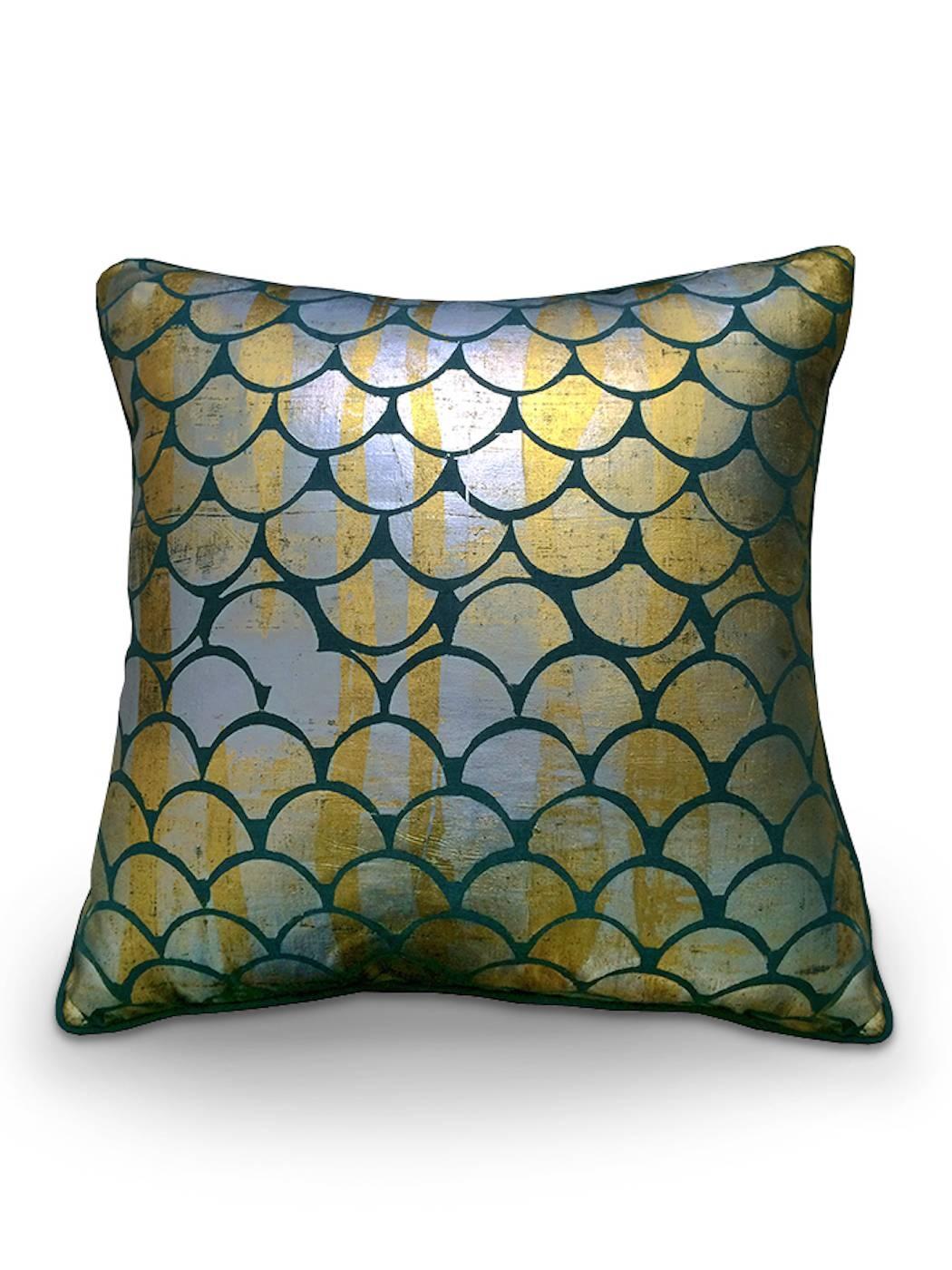 Silver And Gold Mermaid Sofa Cushion Covers | Wright & Smith inside Sofa Cushion Covers (Image 14 of 15)