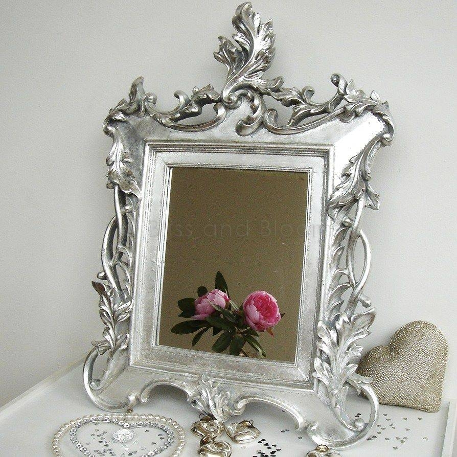 Silver Baroque Mirror | Bliss And Bloom Ltd intended for Silver Baroque Mirrors (Image 13 of 15)