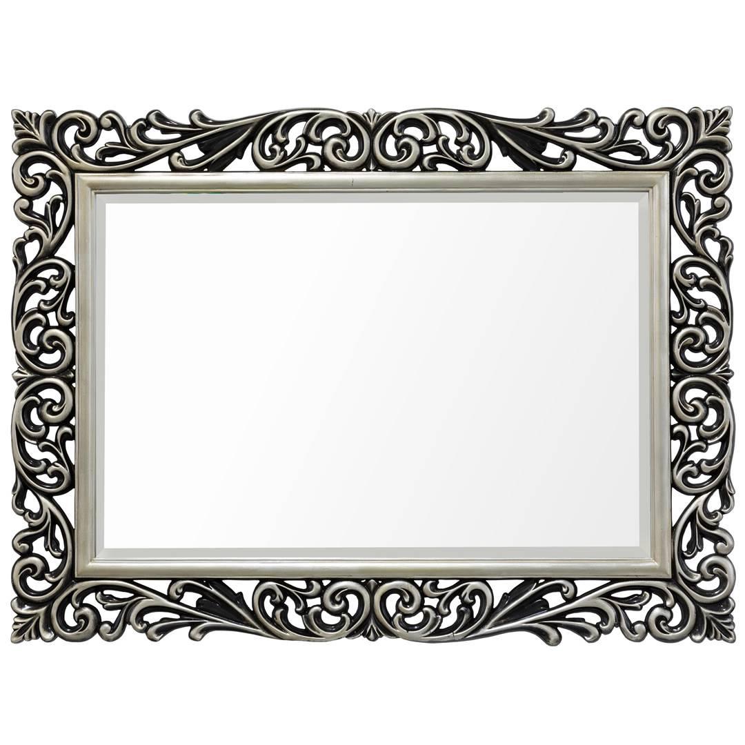 Silver Black Scroll Lattice Mirror – Mirrors.ie regarding Black Mirrors (Image 11 of 15)